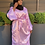 Thumbnail: Lavender Ruched Satin Dress