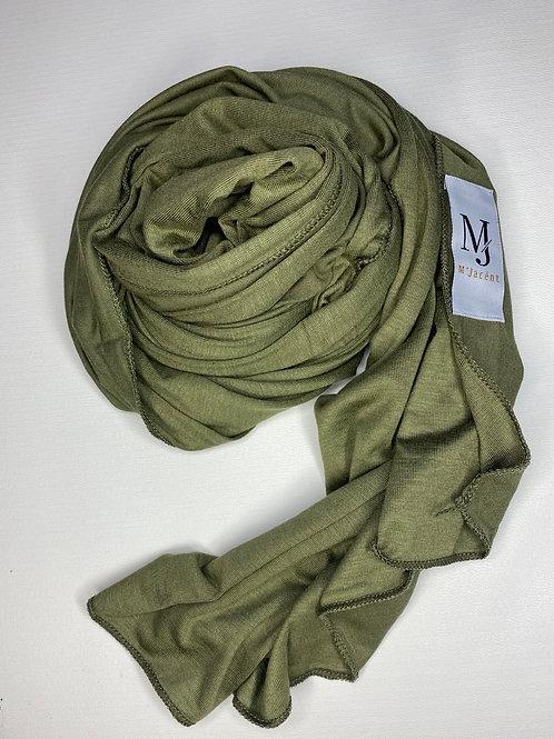 Premium Olive Green Jersey Hijab
