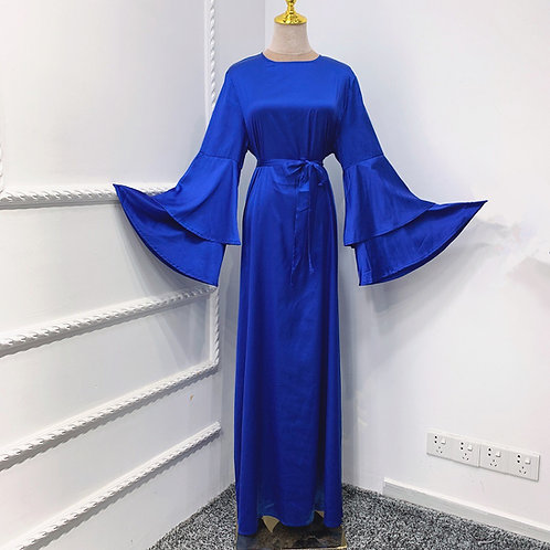 Royal Blue Satin Dress