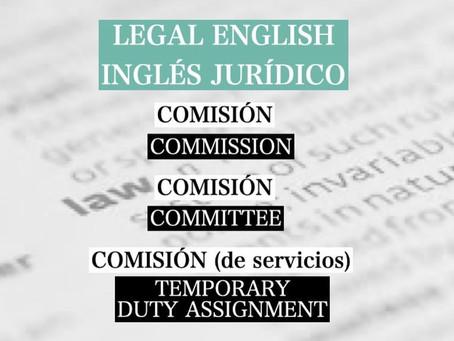 """Legal English: El término """"comisión"""" y sus   traducciones"""