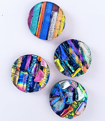 Dichroic Glass Cabochons