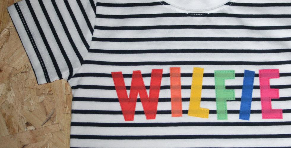 Rainbow Name Stripe Tee