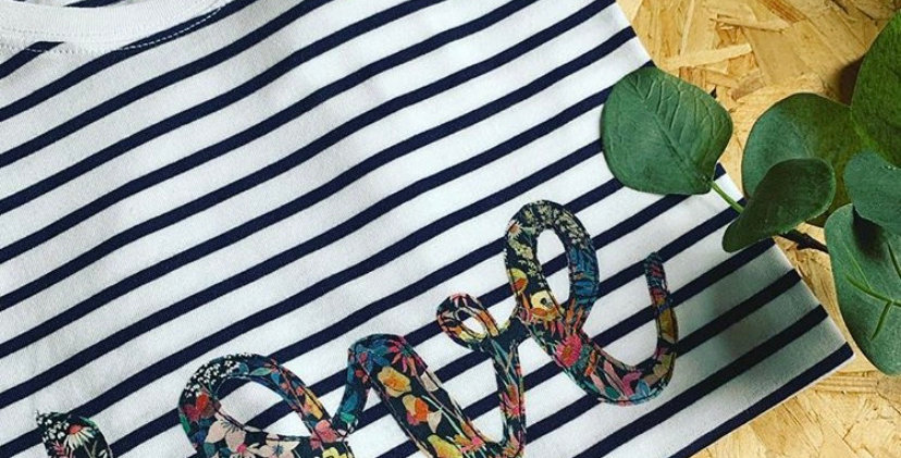 Liberty Print Love Stripe Tee