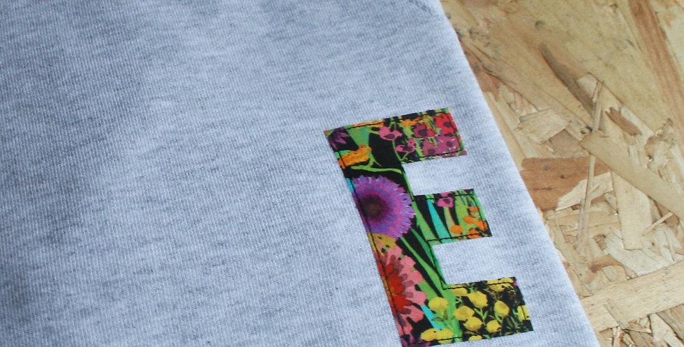 Liberty Print Initial Sweater