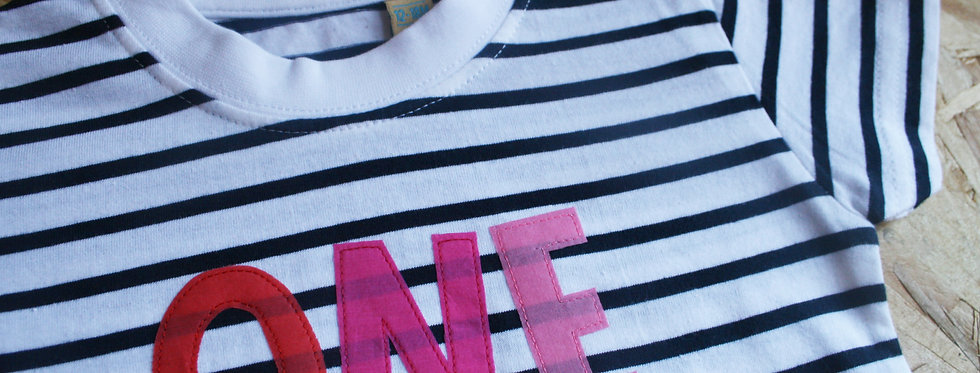 'One' Stripe Tee