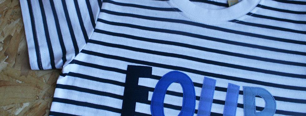'Four' Stripe Tee