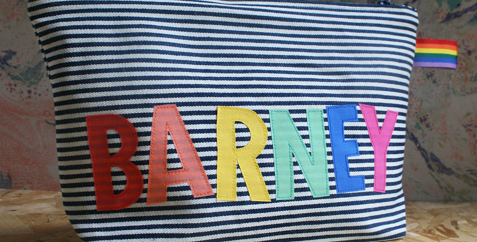 Rainbow Name Travel Bag