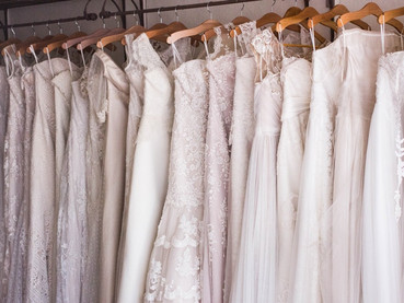 When to start shopping for your wedding dress.
