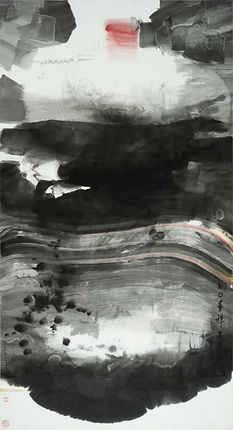 Lui Shou-kwan 呂壽琨,Zen禪,1970.Ink and color on silk.  From the UMAG collection