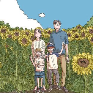 竹内まりや×広末涼子「キミの笑顔」アートワーク