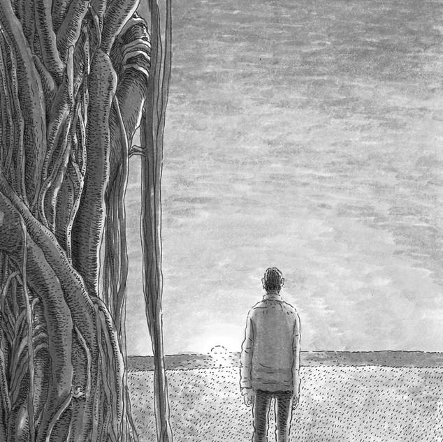 あさのあつこ著「神無島のウラ」第4話扉絵
