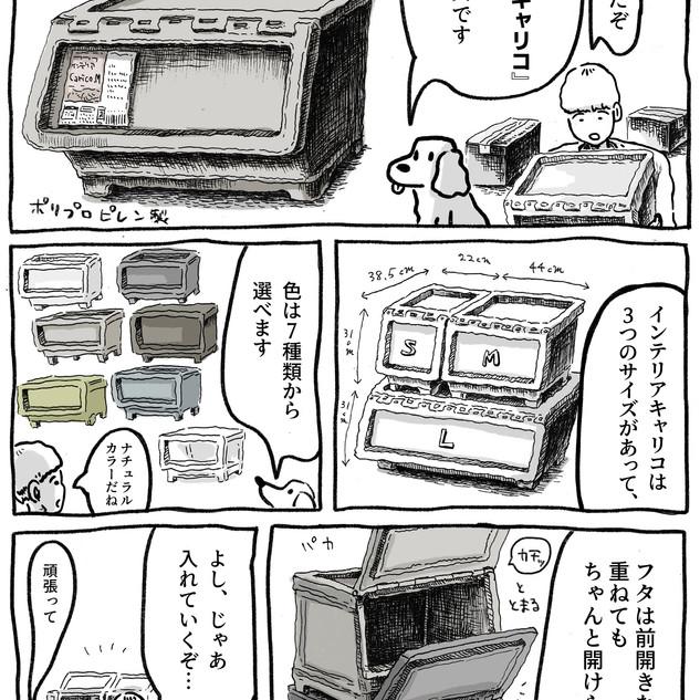【漫画】ダンボールまみれの汚部屋を『インテリアキャリコ』で片付けてみた
