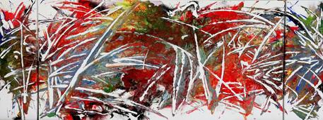 8Spuren Triptychon 60x160cm (60x20,120,2