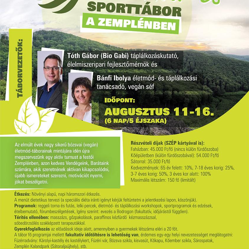 Életmód és sporttábor a Zemplénben