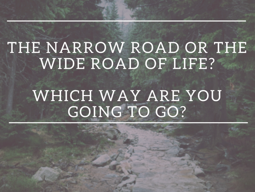 The narrow road or the wide road of life?