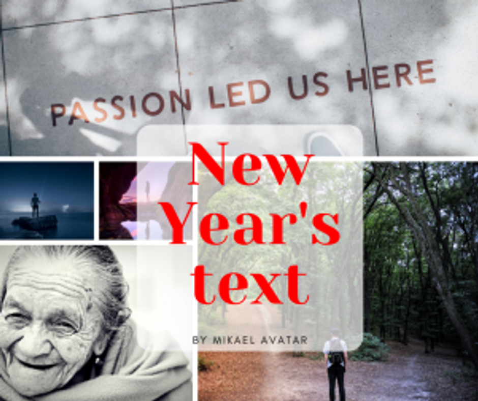 New Year's text by Mikael Avatar