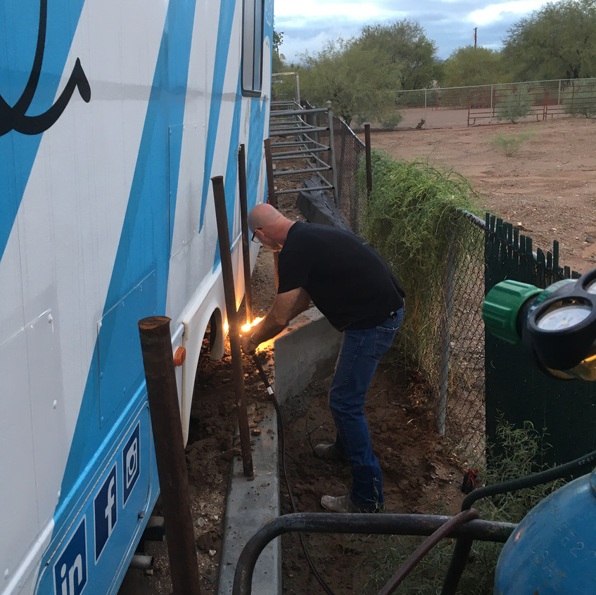 blow torching rebar 2