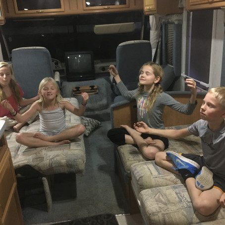 Meditation Truck Diary: Driveway Campout