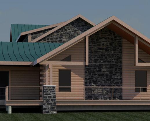 Johnson Residence Log Home Montana
