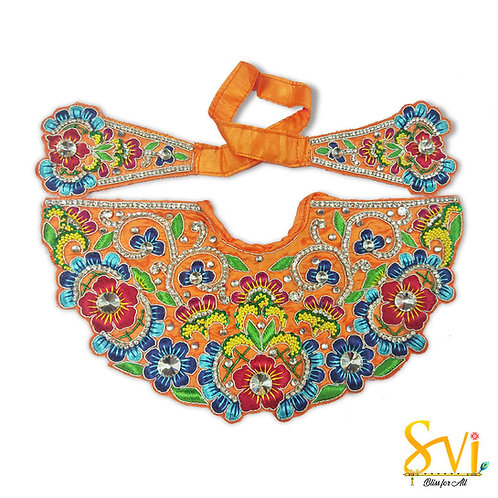 Lord Jagannath Outfit (Orange with Rich Blue)
