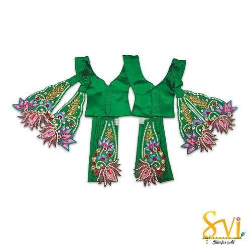 Gaura Nitai Outfit (Green Lotus)