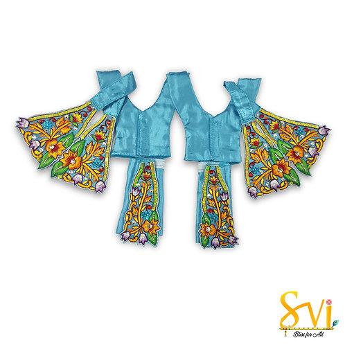 Gaura Nitai Outfit (Turquoise with Orange)