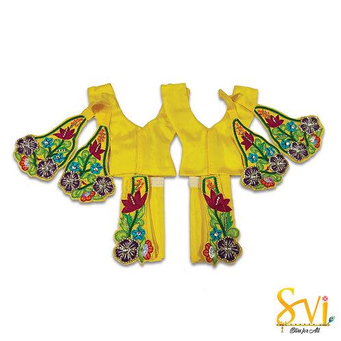 Gaura Nitai Outfit (Yellow with Magenta)
