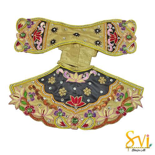 Radha Krishna Outfit (Black & Gold)