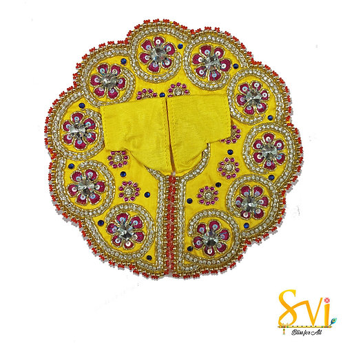 Laddoo Gopal Outfit (Yellow with Magenta)