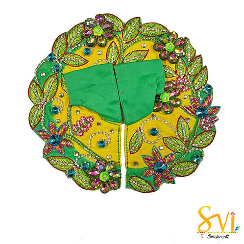 Laddoo Gopal Outfit (Yellow & Green)