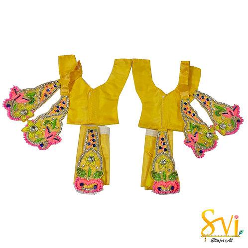 Gaura Nitai Outfit (Yellow & Pink Combination)
