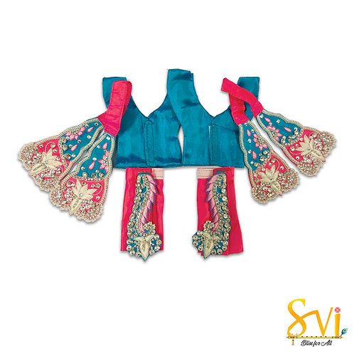 Gaura Nitai Outfit (Magenta & Turquoise)
