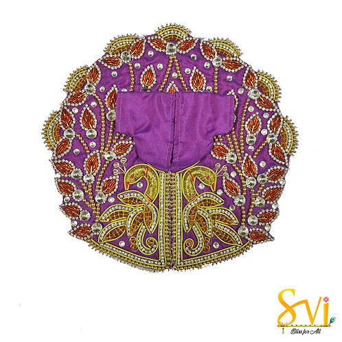 Laddoo Gopal Outfit (Purple with Gold)