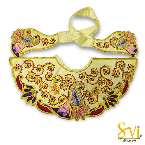 Lord Jagannath Outfit (Lemon with Purple)