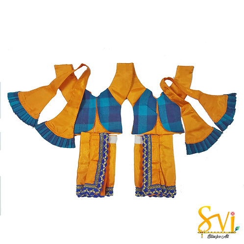 Gaura Nitai Outfit with Jacket (4 Inch Dhoti Size)