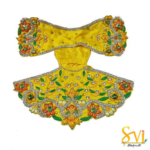 Radha Krishna Outfit (Yellow & Orange)