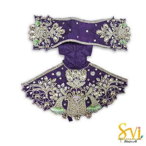 Radha Krishna Outfit (Violet & Silver)