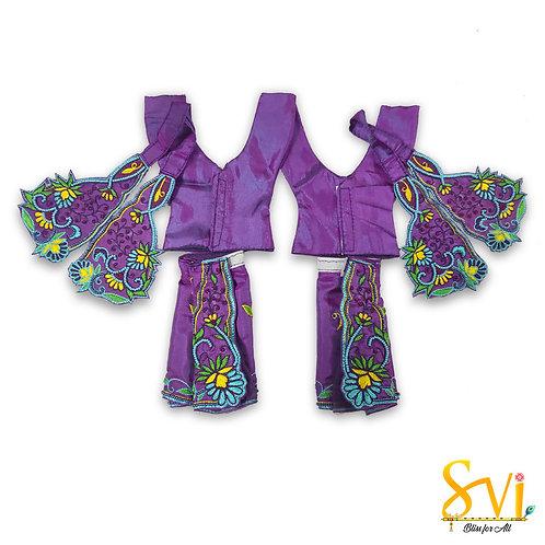 Gaura Nitai Outfit (Violet & Yellow)