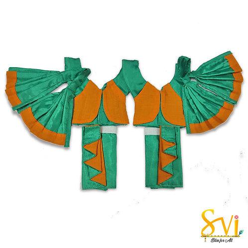 Gaura Nitai Outfit (Zigzag Dhoti) 4 Inch Dhoti Size
