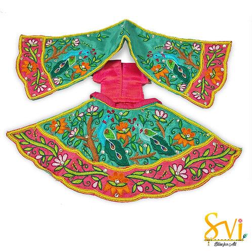 Radha Krishna Outfit (Dancing Vrindavan Peacocks)