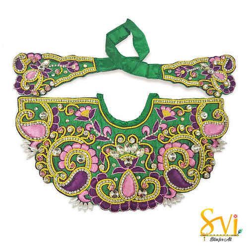 Lord Jagannath Outfit (Bottle Green & Pink)