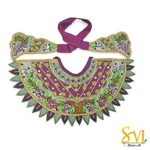 Lord Jagannath Outfit (Purple & Smoke Grey)