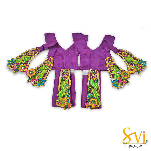 Gaura Nitai Outfit (Purple with Green)