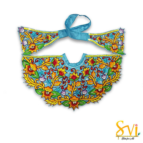 Lord Jagannath Outfit (Turquoise with Orange)