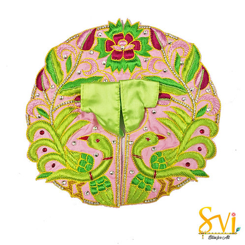 Laddoo Gopal Outfit (Parrot Green & Pink)