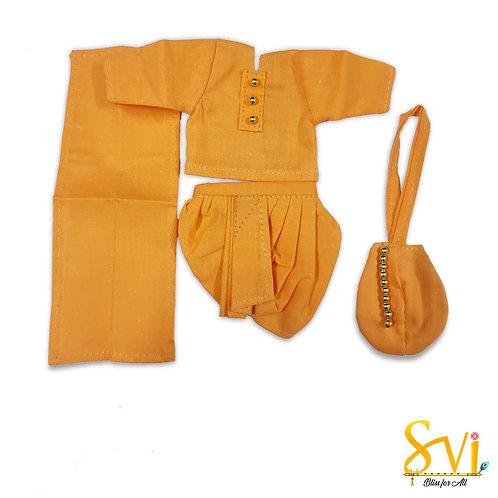 Srila Prabhupad Outfit (For 2 Inch Brass Deity)