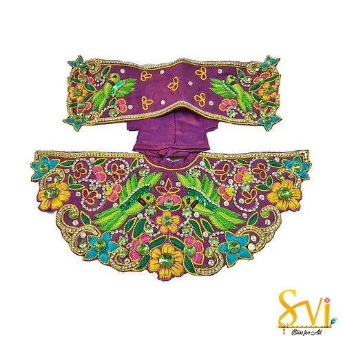 Radha Krishna Outfit (Purple & Green)