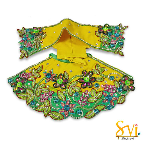 Radha Krishna Outfit (Yellow & Green)
