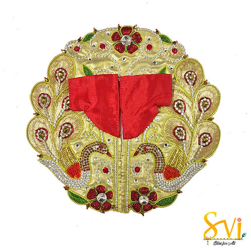 Laddoo Gopal Outfit (Red & Gold)