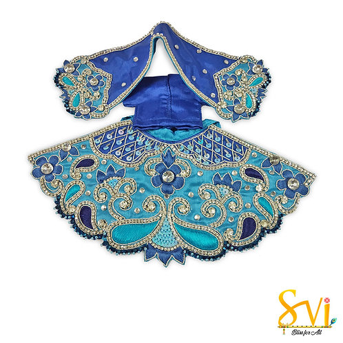 Radha Krishna Outfit (Turquoise with Royal Blue)